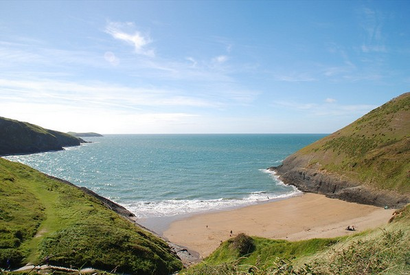 Mwnt beach at Cardigan Bay in Wales